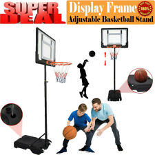 New listing 8.5ft New Adjustable Basketball Hoop Goal Stand Backboard Kids Portable Indoor