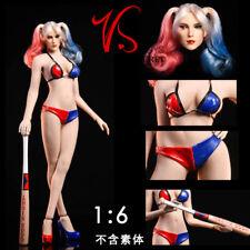 In-stock VSTOYS 19XG044 1/6 Harley Quinn Head + Clothes Set + Baseball bat