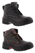 SKECHERS WORK Leather Steel Toe Electrical Hazard Safe Boots in Med & X Wide