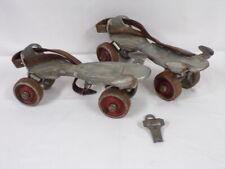 (2) Pair Circa 1950s Hustler / Speed King Adjustable Roller Skates + Key Vintage