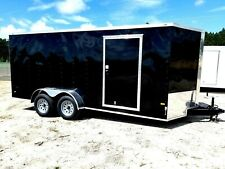 7'x16' Enclosed Trailer Cargo V-Nose ATV Tandem 18 Motorcycle 14 Utility Box New