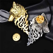 Accessory Wolf Badge Brooch Lapel Pin New Men Retro Jewelry Shirt Suit
