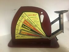Vintage Jiffy Way Manufacturing Company Red Metal Poultry Egg Scale Advertising