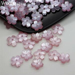 20PCS/Pack 3D Sakura Flower Loose Beads DIY Starry Jewelry Making Popular 10mm