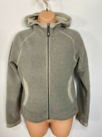 WOMENS THE NORTH FACE XS GREY MIX BORG LINED ZIP UP HOODED JACKET HOODIE JUMPER