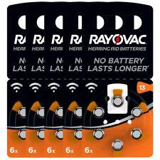 kQ 30x RAYOVAC Hörgerätebatterie Zink - Luft Batterie Typ 13 1.45V Blister