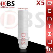 5X Dental Plastic Abutment For Dentium Regular Platform With Hex + Screw