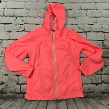 Columbia Girls Jacket Windbreaker Full Zip Hooded Orange Pink Size XL18-20