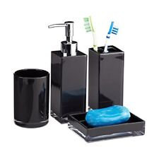 Relaxdays 10022586 46 Set 4 Accessori bagno Bicchiere Igiene dentale (d6j)