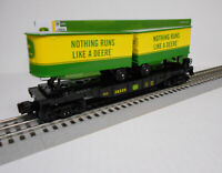 Lionel 1928350 John Deere Flat Car with Piggyback Trailers O 027 New MIB