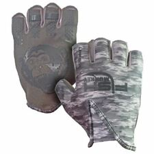 Fish Monkey Stubby Guide Glove - Grey Water Camo (Size S)