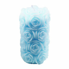 Candle Mold Silicone Cylinder Rose Flower Handmade Decorating Pillar Soap Mould