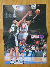 TIM DUNCAN vs MICHAEL JORDAN / KOBE BRYANT vs SHAWN KEMP Insert Poster ALL STAR