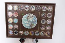Vintage NASA Mission Patch Plaque Photos Mercury Gemini Apollo Collectible NR!