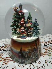 San Francisco Music Box Co Christmas Caroling Waterglobe We Wish You A Merry.