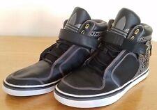 Adidas Men's High Top Lace Up & Velcro Black/Grey Trainers UK 9   EU 43