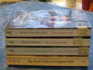 GRACE LIVINGSTON HILL Lot of 4 Vintage Christian Romance PB