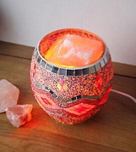 Himalayan Glass Jar Salt Lamp - Pink Silver