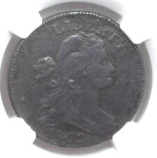 1802 DRAPED BUST LARGE 1 CENT S-240 NGC XF DETAILS ! RARE EARLY DATE!