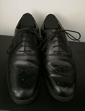 Mens Clarks Black Leather Brogues Shoes - UK 8