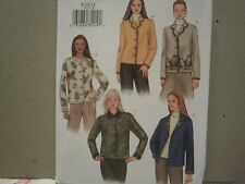 Misses Jackets Pattern Size 8-12 Butterick 3573 2002