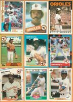 Eddie Murray, Baltimore Orioles, LA Dodgers, HOF, 9 card LOT, all 29+ yrs old