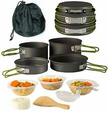 Camping Cookware 11 Piece Outdoor Mess Kit Backpacking Trailblazing add on