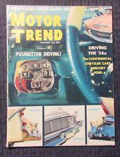 1955 Nov MOTOR TREND Magazine v.7 #11 VG/FN Chrysler - De Soto - Plymouth