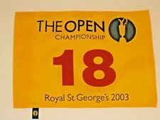 2003 British Open Royal St. George's Championship Official Pin Flag Ben Curtis