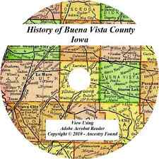 1909- BUENA VISTA County Iowa IA - History Genealogy Ancestry - Storm Lake  CD