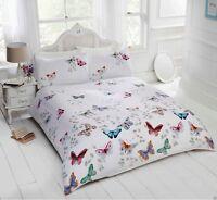 Mariposa Butterflies Floral Print Duvet Cover/Quilt Cover Set Bedding Multi