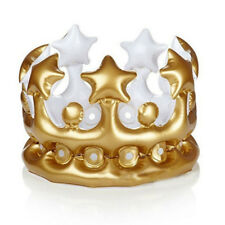 Inflatable Crown Queen PVC Balloon Toys Novelty Birthday Party Hat Childrens