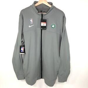 Nike Dri Fit NBA Boston Celtics Basketball Jacket Gray Men's Large L
