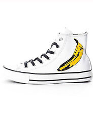NEW MEN'S CONVERSE ANDY WARHOL ALL STAR CHUCK TAYLOR 149535C LEATHER HI TOP 11