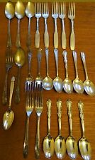Antique Silverplate Flatware Silverware Crafts Mixed Lot 24 Pieces