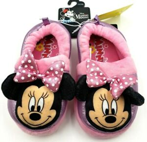 Disney Minnie Mouse Child's Slippers NWT Toddler SZ 11/12