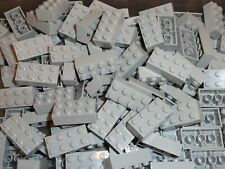 NEW LEGO Light Bluish Gray 2X4 Bricks Bulk Lot of 100 Pieces 3001 Med Stone Grey