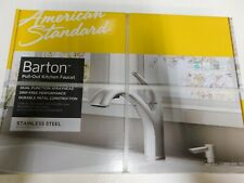 American Standard Barton Pull-Out Sprayer Kitchen Faucet +Soap Stainless 4145SSF