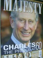 Majesty Magazine V29 #11 Charles At 60/Queen Sofia/Royal Performances Meet &