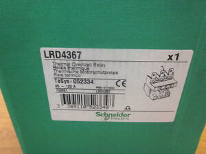 Schneider Thermal Overload Relay - Part # LRD4367 (NEW)