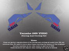 YAMAHA 1989 YSR50 FAIRING COWLING DECAL GRAPHIC SET