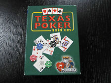 Modiano Italian Playing Card Deck TEXAS POKER BLUE Cards GREEN BOX (PACK OF 14)