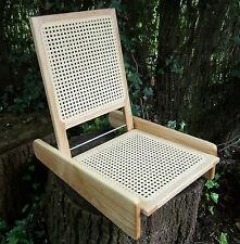 Folding Cane Seat -Portable - Canoe, Camping, Picnics, Fishing, Beach TO CLEAR