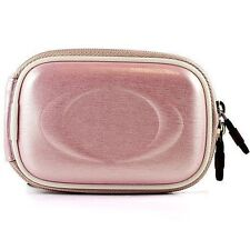 Pink Semi Hard Slim Camera Case For Nikon CoolPix A300 / Canon Powershot IXUS190