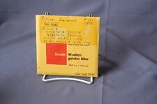 "#82B 100mm square Blue Kodak Wratten gelatin filter in 4"" frame 149 7635"