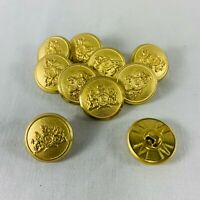 "Lot Of 10 Matching Vintage Gold "" S "" WATERBURY CO. 3/4 Inch Buttons"