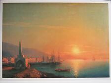 Armenian Artist AIVAZOVSKY (1817 – 1900) ''SUNSET IN FEODOSIYA 1855'' Litho