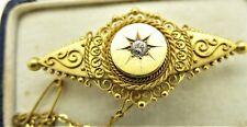 Victorian 15 carat yellow gold brooch