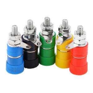 5Pcs Binding Post Female Socket Jack 5 Color Suitable For 4mm Banana Plug CP US