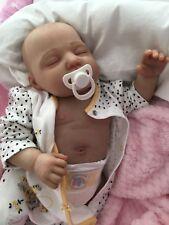 """Cherish Bambole Per Bambini Reborn reale Bambina Elle realistico 22"""" ventre piatto UK"""
